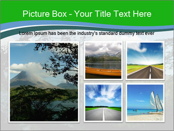 View of the Arenal volcano in Costa Rica PowerPoint Template - Slide 19