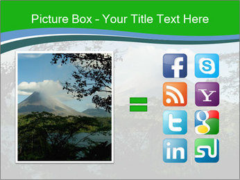 View of the Arenal volcano in Costa Rica PowerPoint Template - Slide 21