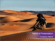Touareg looks in the desert PowerPoint Templates