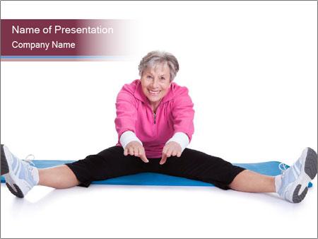 Portrait Of Senior Woman Exercising PowerPoint Template