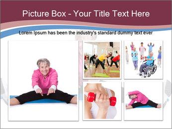 Portrait Of Senior Woman Exercising PowerPoint Template - Slide 19