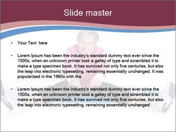 Portrait Of Senior Woman Exercising PowerPoint Template - Slide 2
