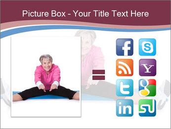 Portrait Of Senior Woman Exercising PowerPoint Template - Slide 21
