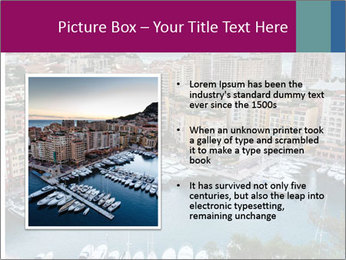 Aerial View on Fontvieille PowerPoint Templates - Slide 13