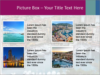 Aerial View on Fontvieille PowerPoint Templates - Slide 14