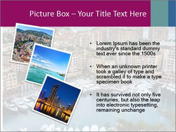 Aerial View on Fontvieille PowerPoint Templates - Slide 17
