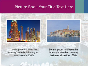 Aerial View on Fontvieille PowerPoint Templates - Slide 18