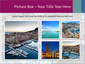 Aerial View on Fontvieille PowerPoint Templates - Slide 19