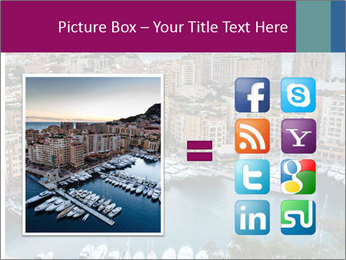 Aerial View on Fontvieille PowerPoint Templates - Slide 21