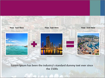 Aerial View on Fontvieille PowerPoint Templates - Slide 22