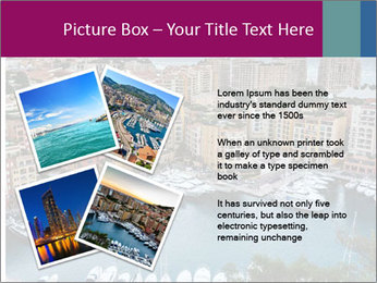 Aerial View on Fontvieille PowerPoint Templates - Slide 23