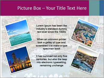 Aerial View on Fontvieille PowerPoint Templates - Slide 24