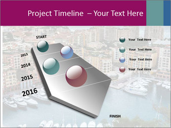 Aerial View on Fontvieille PowerPoint Templates - Slide 26