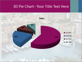Aerial View on Fontvieille PowerPoint Templates - Slide 35
