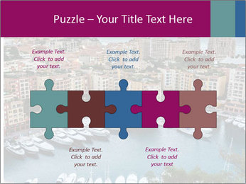 Aerial View on Fontvieille PowerPoint Templates - Slide 41