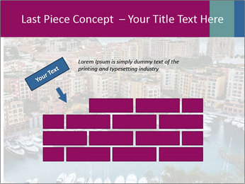 Aerial View on Fontvieille PowerPoint Templates - Slide 46