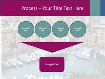 Aerial View on Fontvieille PowerPoint Templates - Slide 93