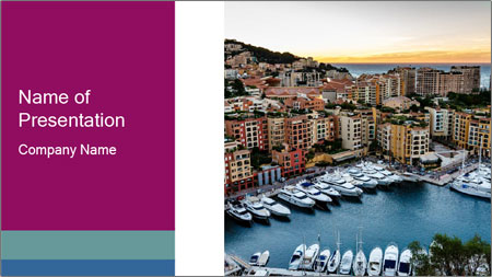 Aerial View on Fontvieille PowerPoint Template