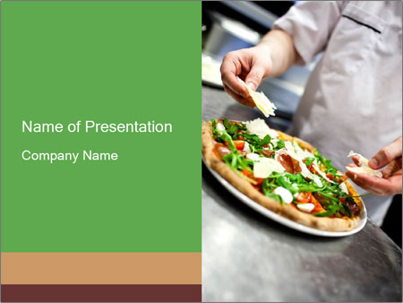 Closeup hand of chef baker PowerPoint Templates