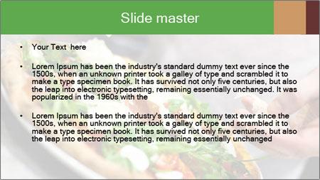 Closeup hand of chef baker PowerPoint Template - Slide 2