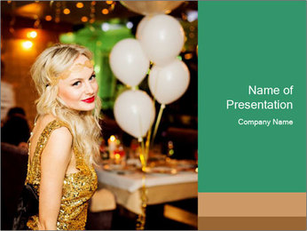 Celebrity PowerPoint Template - Slide 1