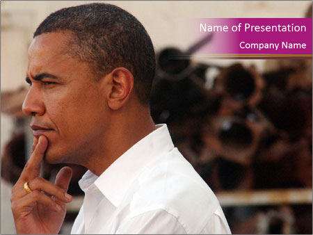 Obama PowerPoint Template - Slide 1