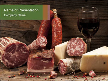 Meat PowerPoint Templates - Slide 1