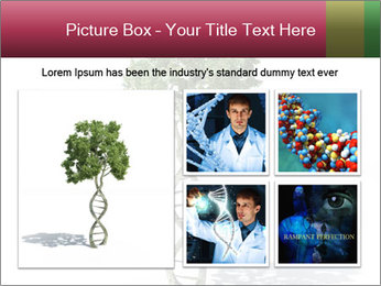 DNA shaped tree with trunks PowerPoint Template - Slide 19