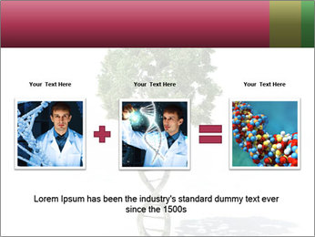 DNA shaped tree with trunks PowerPoint Templates - Slide 22