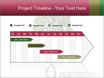 DNA shaped tree with trunks PowerPoint Template - Slide 25