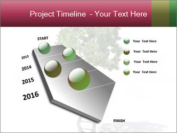 DNA shaped tree with trunks PowerPoint Templates - Slide 26