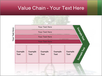 DNA shaped tree with trunks PowerPoint Template - Slide 27