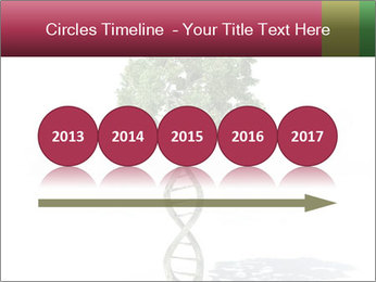 DNA shaped tree with trunks PowerPoint Template - Slide 29
