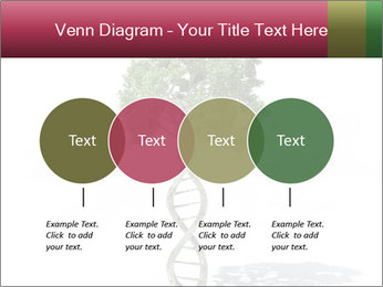DNA shaped tree with trunks PowerPoint Templates - Slide 32