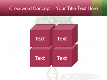 DNA shaped tree with trunks PowerPoint Template - Slide 39