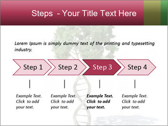 DNA shaped tree with trunks PowerPoint Template - Slide 4
