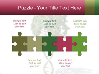 DNA shaped tree with trunks PowerPoint Template - Slide 41