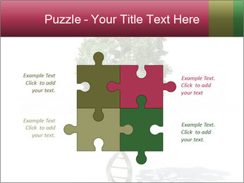 DNA shaped tree with trunks PowerPoint Template - Slide 43
