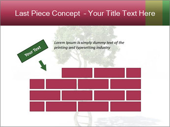 DNA shaped tree with trunks PowerPoint Template - Slide 46