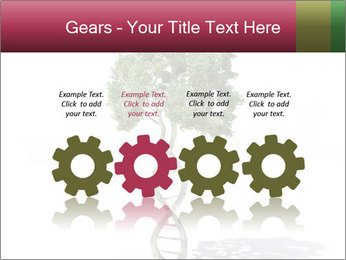 DNA shaped tree with trunks PowerPoint Template - Slide 48