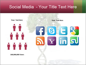 DNA shaped tree with trunks PowerPoint Template - Slide 5