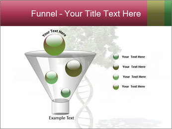 DNA shaped tree with trunks PowerPoint Template - Slide 63