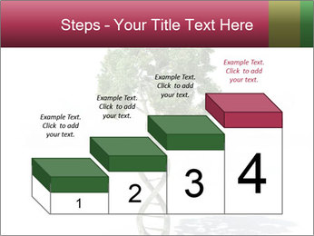 DNA shaped tree with trunks PowerPoint Templates - Slide 64