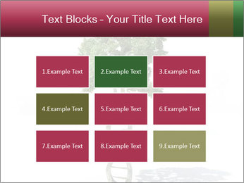 DNA shaped tree with trunks PowerPoint Templates - Slide 68
