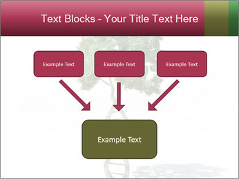 DNA shaped tree with trunks PowerPoint Templates - Slide 70