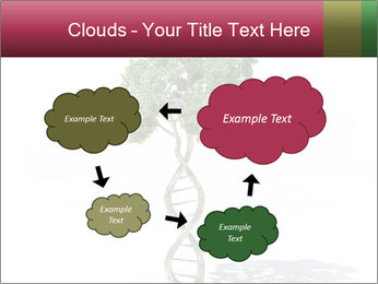 DNA shaped tree with trunks PowerPoint Templates - Slide 72
