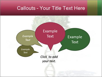 DNA shaped tree with trunks PowerPoint Template - Slide 73
