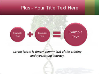 DNA shaped tree with trunks PowerPoint Template - Slide 75