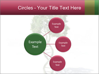 DNA shaped tree with trunks PowerPoint Template - Slide 79