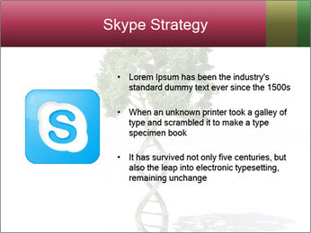 DNA shaped tree with trunks PowerPoint Template - Slide 8